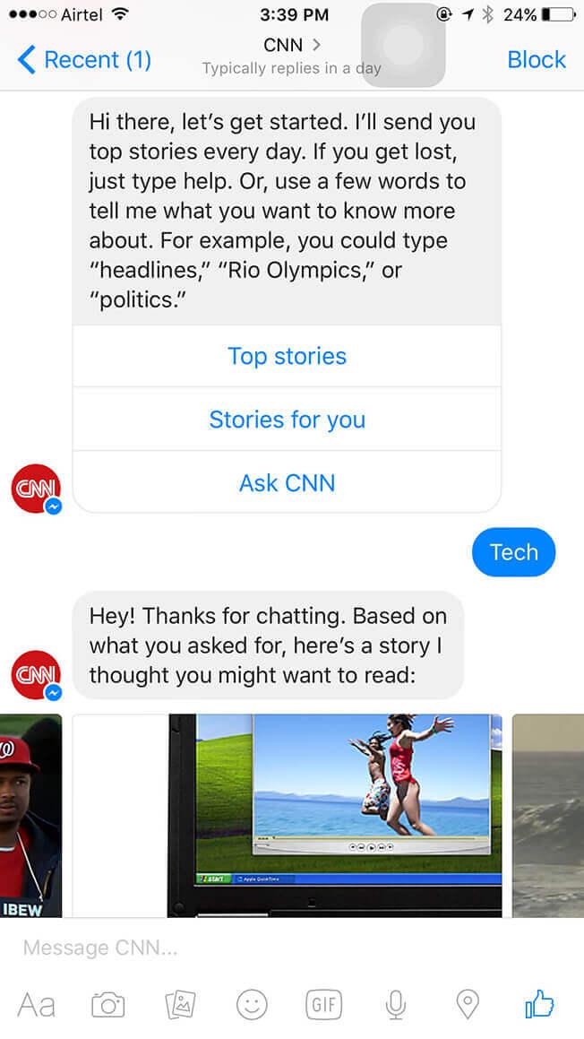 Диалог CNN